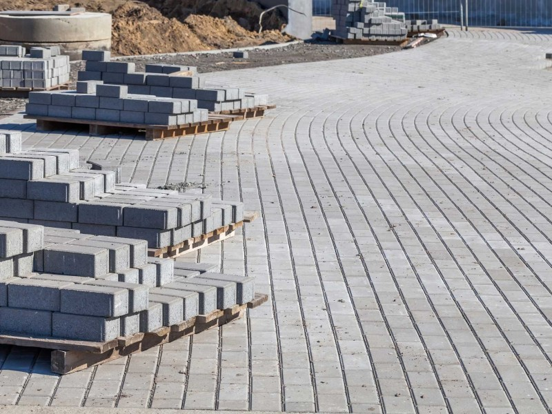 What Exactly is Masonry Sand - Image of Paver installation