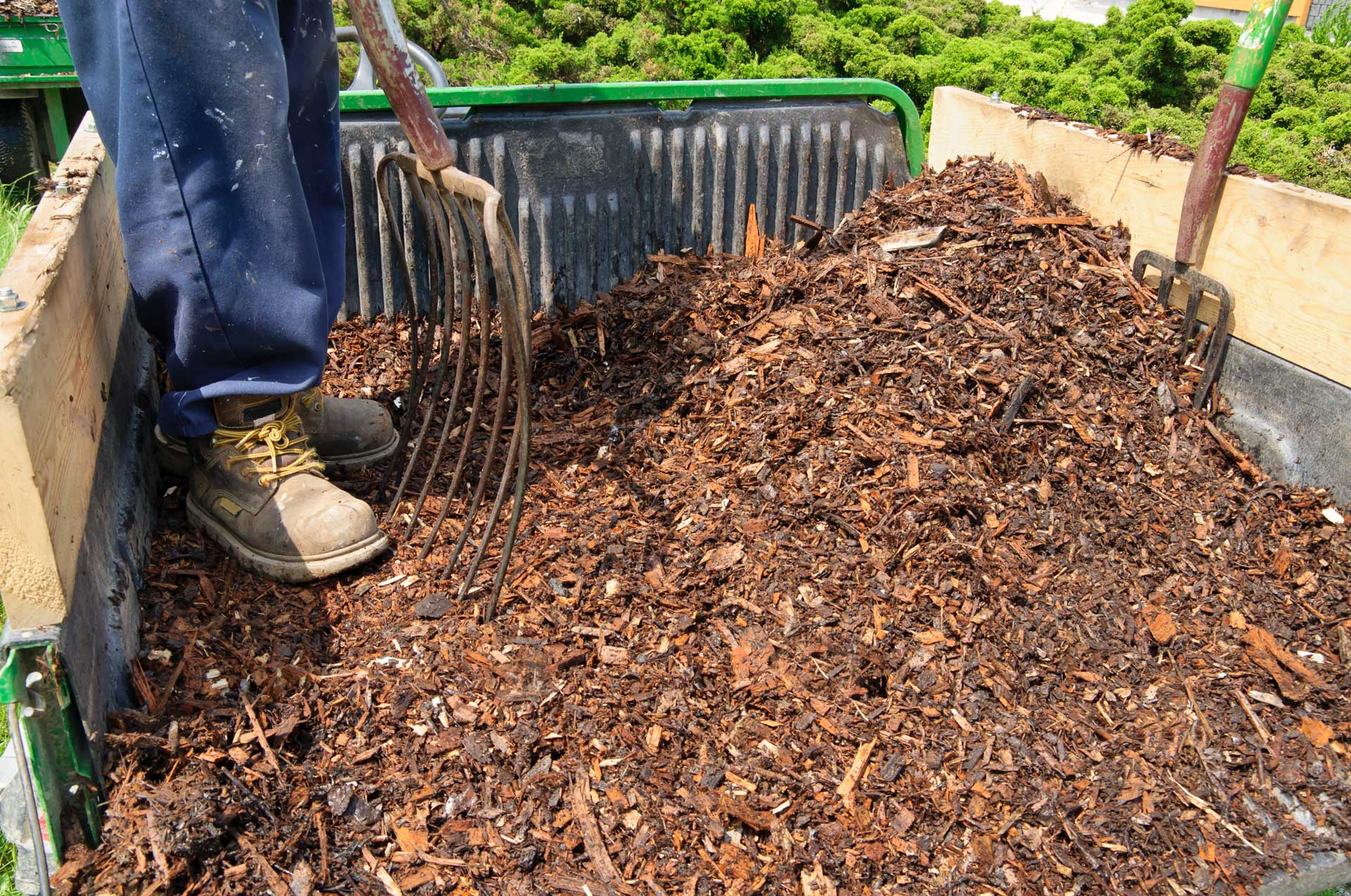 Why Mulch Matters - Image bulk load of mulch