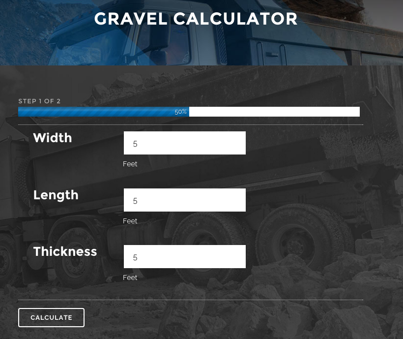 Gravel Calculator Same Day Aggregates 1