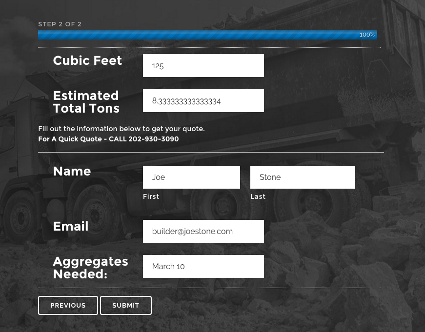 Gravel Calculator Same Day Aggregates 2